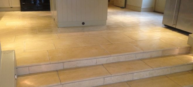 Removing water stains on stone floors and natural stone surfaces